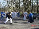 Fred Bateman Sensei teaches Kobudo out in the sunshine!