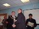 Sensei Andy receiving his FSMA from Cliff Morris (Mayor of Bolton)